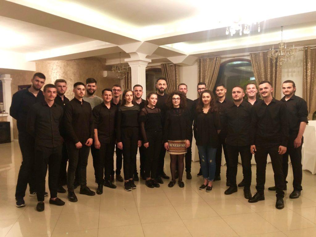 "Studenten der Bläserklassen der Musikfakultät der Universität ""Haxhi Zeka"" in Peja, Kosovo"